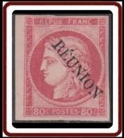 Réunion 1859-1891 - N° 12 (YT) N° 12 (AM) Neuf *. Signé A Brun. Reste De Charnière. - Nuevos
