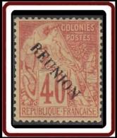 Réunion 1859-1891 - N° 26 (YT) N° 26 (AM) Neuf *. Petit Aminci. - Nuevos