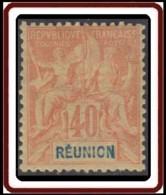 Réunion 1892-1901 - N° 41 (YT) N° 41 (AM) Neuf *. - Nuevos
