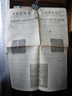 (G19) SETTIMANALE GIORNALE,  ARENA DEL LUNEDI GIORNALE FASCISTA, LUNEDI 11 FEBBRAIO 1929 - Riviste & Giornali
