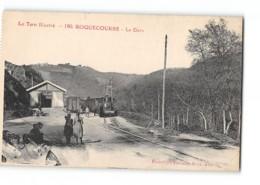 CPA 81 Roquecourbe La Gare Et Le Train Tramway - Roquecourbe