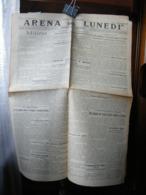 (G20) SETTIMANALE, GIORNALE ARENA DEL LUNEDI GIORNALE FASCISTA, LUNEDI 28 GENNAIO 1929 - Riviste & Giornali