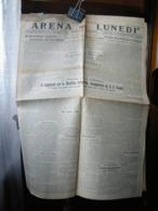 (G21) SETTIMANALE, GIORNALE ARENA DEL LUNEDI GIORNALE FASCISTA, LUNEDI 21 GENNAIO 1929 - Riviste & Giornali