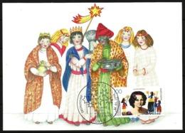 Germany Maximum Card Maxicard 1996 Christmas Carol Singers Sternsaenger Augusta Von Sartorius Children's Missionary Work - Christmas