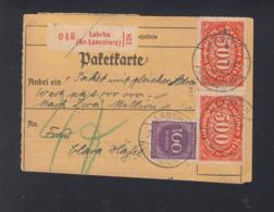 Dt. Reich Paketkartenabschnitt 1923 Labehn - Allemagne