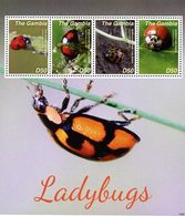 GAMBIE Coccinelles II 4v (1425)  Neuf ** MNH - Gambie (1965-...)