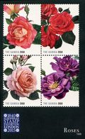 GAMBIE Expo Londres - Roses 4v (1509) Neuf ** MNH - Gambie (1965-...)