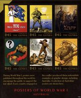 GAMBIE WWI-Posters Australie (1505) 6v Neuf ** MNH - Gambie (1965-...)