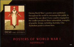 GAMBIE Bloc WWI-Posters Australie (1505) Neuf ** MNH - Gambie (1965-...)