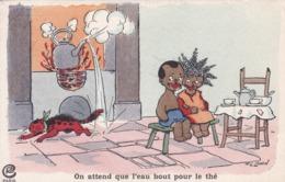 """Thèmes > Illustrateurs  F G Lewin  """" On Attend Que L'eau Bout Pour Le Thé - Künstlerkarten"""