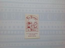 Ancienne Carte De Visite De Bar  La Pompe à Bière.  Paris - Cartoncini Da Visita