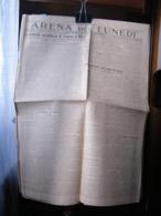 (G25) SETTIMANALE POLITICO E SPORTIVO, GIORNALE ARENA DEL LUNEDI, LUNEDI 12 MAGGIO 1930 - Riviste & Giornali