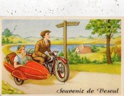 SOUVENIR DE VESOUL (CARTE A SYSTEME) SIDE-CAR - Vesoul