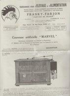 """DEPLIANT PUBLICITAIRE TECHNIQUE - Couveuse Artificielle """"MARVEL"""" FRANKY FARJON GAMBAIS Seine Et Oise - Publicités"""