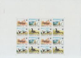 F-EX14587 AZERBAIJAN RUSSIA 1994 MNH PROOF IMPERF SHEET WWF BIRDS, ONLY 5 ISSUE. - Azerbaiyán