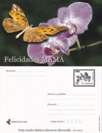 2006-EP-15 CUBA 2006 POSTAL STATIONERY MOTHER DAY SPECIAL DELIVERY BUTTERFLIES MARIPOSAS FLOWERS FLORES UNUSED. - Kuba