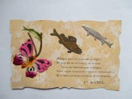 POISSONS  ET  PAPILLON   -  DORE  ET  ARGENTE     -      AJOUTIS          TTB - 1er Avril - Poisson D'avril