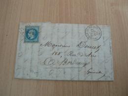 CP 108 / NAPOLEON N° 29 SUR LETTRE - 1863-1870 Napoléon III Lauré