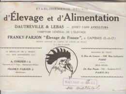 CATALOGUE PUBLICITAIRE TECHNIQUE ELEVAGE ET ALIMENTATION ANIMALE 32 PAGES - Elevage De France FRANKY FARJON GAMBAIS  78 - Publicités