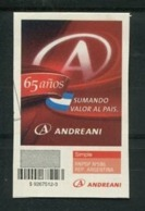 ANDREANI - ESTAMPILLA AUTO-ADHESIVA USADA. ARGENTINA CORREO PRIVADO. PRIVATE COURIERS, AUTOADHESIF STAMP USED -LILHU - Argentina