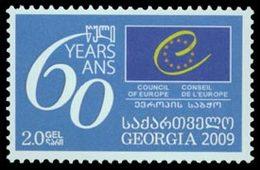 GEORGIE 60è An.Conseil De L'Europe 2009 1v Neuf ** MNH - Géorgie