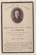 9AL1997 IMAGE RELIGIEUSE MORTUAIRE Melle DE VALROGER OUVROIR N D CAEN 1908 2 SCANS - Imágenes Religiosas