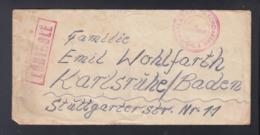 Kriegsgefangenen-Brief Lager Schömberg Württemberg Nach Baden Französische Zensur - Zone Française