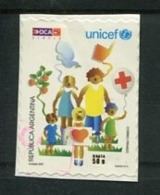 UNICEF - ESTAMPILLA AUTOADHESIVA USADA, OCA CORREO PRIVADO ARGENTINA 2007. PRIVATE COURIERS AUTOADHESIF STAMP USED LILHU - Altri