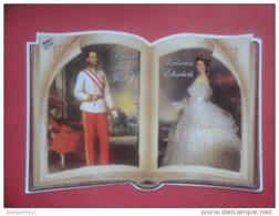 ET/54 WIEN VIENNE VIENNA VIENA AUSTRIA Kaiser Franz Josef 1 Kaiserin Elisabeth RAU COLOR // RECTO VERSO - Autriche