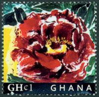 GHANA Pivoine 1v Neuf ** MNH - Ghana (1957-...)