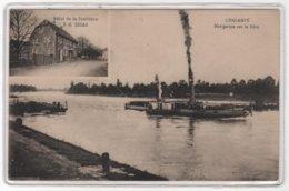 CPA 68 : CHALAMPE - Navigation Sur Le Rhin - Hôtel De La Couronne - Lucas - Péniche - Ed. Kanitzer à Mulhouse - 1931- - Chalampé