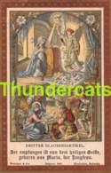 IMAGE PIEUSE BENSIGER EINSIEDELN SCHWEIZ HOLYCARD ( PLI - CREASE ) - Santini