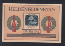 Dt. Reich Heldengedenktag Karte 1942 - Briefe U. Dokumente