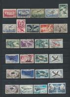 FRANCE AIR MAIL Poste Aérienne  Lot De 26 Timbres Oblitérés - Poste Aérienne