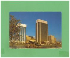 1987 UNITED ARAB EMIRATES ABU DHABI AIR MAIL POSTCARD WITH 2 STAMPS TO SWISS - Abu Dhabi