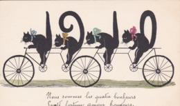 """Thèmes > Illustrateurs  Chats Humanisés  """" Année 1910  Chats A Vélo """" - 1900-1949"""
