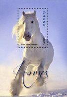 GHANA Bloc Chevaux I-Shire Horse (1504) Neuf ** MNH - Ghana (1957-...)