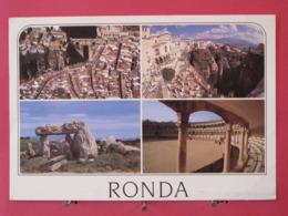 Visuel Très Peu Courant - Espagne - Malaga - Vista Aerea De Ronda - Dolmen Y Plaza De Toros - Scans Recto Verso - Malaga