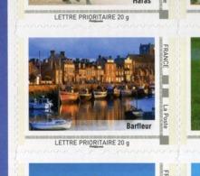 """FRANCE . VARIETE DEUX TRES RARE COLLECTORS """" LA BASSE NORMANDIE 2009 """" Timbre Port De HONFLEUR Fauté NEUFS ** - Variétés Et Curiosités"""