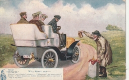 ***  Humour Publicité - Illustrateur Oilette Tuck - Punch Motorist - TTB Stamped - Illustrateurs & Photographes