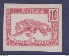 Congo Essai Panthere Non Dentel� Rouge - French Congo (1891-1960)