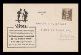 Préo / CP De BRUXELLES - Typo Precancels 1932-36 (Ceres And Mercurius)