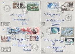 Port Aux Francais - Kerguelen - TAAF - 1-1-1989 - Lot De 4 Lettres Destination Suisse - Terres Australes Et Antarctiques Françaises (TAAF)