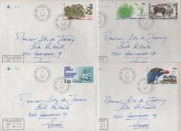 Port Aux Francais - Kerguelen - TAAF - 1-1-1987 - Lot De 4 Lettres Destination Suisse - Lettres & Documents