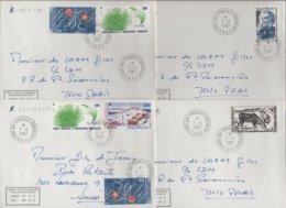Port Aux Francais - Kerguelen - TAAF - 1-1-1987 - Lot De 4 Lettres Destination France (3) Et Suisse (1) - Lettres & Documents