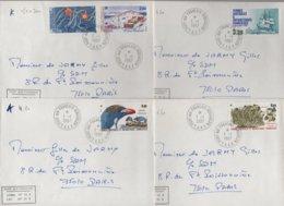 Port Aux Francais - Kerguelen - TAAF - 1-1-1987 - Lot De 4 Lettres Destination France - Lettres & Documents