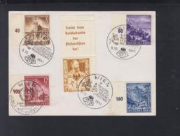 Sondestempel Wien 1941 Vignette Auf Blanko-Karte - 1918-1945 1. Republik