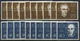 ENGROS 315-19 **, 1959, Beethoven, 10 Prachtsätze, Mi. 200.- - Abarten