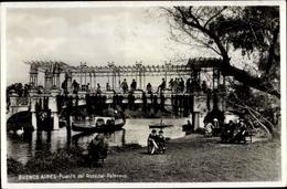 Cp Buenos Aires Argentinien, Puente Del Rosedal Palermo - Argentina