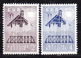 Europa Cept 1957 Belgium 2v ** Mnh (44830) - Europa-CEPT